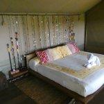 Schlafzimmer im Zelt