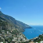 View from La Costantino restaurant, Positano