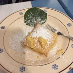 Typical dolci - homemade with puff pastry and kaki fruit