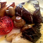 28day Scotch Beef Fillet with Chips, Béarnaise Sauce and a Moroccan Spiced Cauliflower Puree