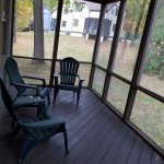Poor photo of screened in back porch