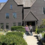 In the garden of the House of Seven Gables