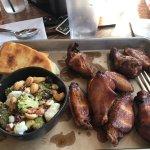 Smoked wings & Broccoli Salad