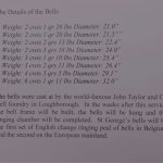 22 Oct 2017: Ieper, weight of the eight new bells at St.Georges Memorial Church