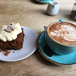 Cappuccino and carrot cake - so good!