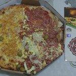 Pizza baiana e alho e óleo