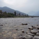 the stream next to Punakha Dzong where we spent a considerable amount of time