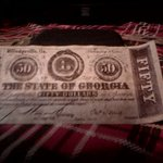 Confederate money from the gift shop.