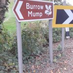 Burrow Mump Sign at foot.