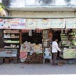 Shops outside the temple