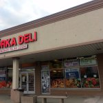 front of & entrance to Gorka Deli