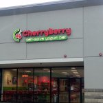 front of & entrance to Cherryberry
