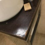 Bathroom was less than clean and had plenty of wear & tear!
