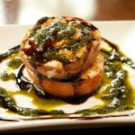 Grilled blue tomato