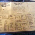 """La classica tovaglietta """"Testone"""" con tutto il menu"""