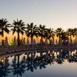 Sunset at the Aqua pool