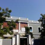 Front view of Sri Aurobindo Ashram
