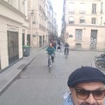 Through the backstreets of Paris with Pepe, our guide.