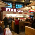 Outside of five guys Trafford Centre