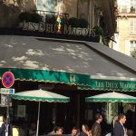 Hemingway got it right years ago! Cafe Les Deux Magots