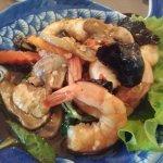 Crevettes au basilic Thaï et champignons