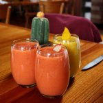 Delicious fresh fruit juices