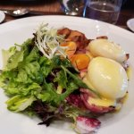 Eggs Benedict with side salad & oven-roasted potatoes