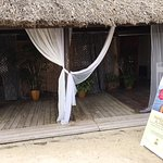 Front of beachside spa