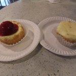 Vanilla & strawberry cheesecake