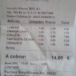 factura de lo consumido
