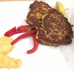 Crab Cakes with a mildly spicy aioli