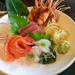 Salmon, Tuna and Shrimp Sashimi