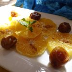 The desert, oranges with cinnamon and dades