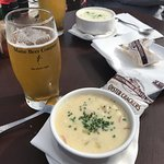 Both of the fish and the clam chowders are perfect classics.