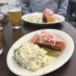 """The menu offers (3) rolls with """"twists"""". But if you want an old-school, no-frills lobstah roll,"""