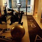 Gym. Bike. Cross trainer and weight machine
