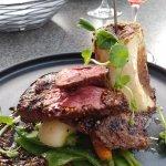 Skirt Steak with roasted bone marrow - beautiful presentation