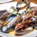 Gluten Free- pan seared mussels