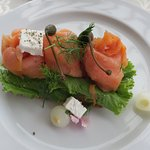 Smoked Salmon at breakfast on the Terrace