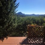 The view from our private deck of the Sedona Serenade room.