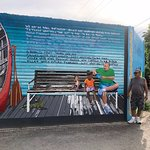 Mural dedicated to Children's literacy in San Ignacio with our beloved Sergio Paiz