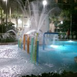 Splash Pad with entry into pool. Water pressure to high.