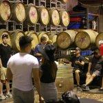 Tasting in the Barrel room , Hunter Valley!