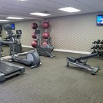 Gym looks nicely remodeled but still reeks of cigarette smoke