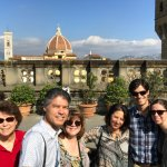 Our group with guide Paola on the top of the Uffizi.
