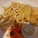 Autobahn fish and chips meal