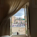 View of the Spanish Steps from inside our lovely room