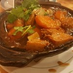 pumpkin and chicken hot pot