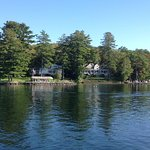 Weirs Beach lakefront houses