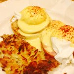 Eggs Benedict! good choice if you want some classics.